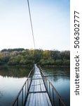 Small Rustic Bridge Across River