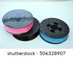 3d printing filament spools | Shutterstock . vector #506328907