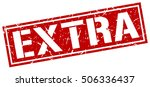 extra. grunge vintage extra... | Shutterstock .eps vector #506336437
