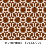 seamless floral geometric... | Shutterstock .eps vector #506337703