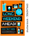 long weekend ahead   flat style ... | Shutterstock .eps vector #506347663