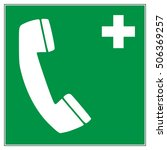 emergency telephone for first... | Shutterstock .eps vector #506369257