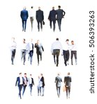 set of business people walking. ... | Shutterstock . vector #506393263
