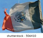 mexico's flag - stock photo