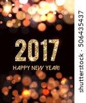 2017 new year card   Shutterstock .eps vector #506435437