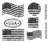 usa american grunge flag set ... | Shutterstock .eps vector #506438083
