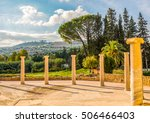 colonnade on the courtyard of... | Shutterstock . vector #506466403