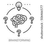 brainstorming infographic... | Shutterstock .eps vector #506466577