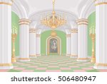 illustration of palace hall | Shutterstock .eps vector #506480947