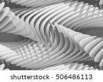 3d abstract curved lines... | Shutterstock . vector #506486113