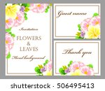 romantic invitation. wedding ... | Shutterstock .eps vector #506495413