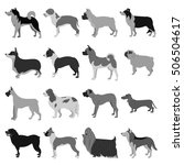 dogs flat set | Shutterstock . vector #506504617