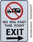 no rvs past this point sign. | Shutterstock . vector #506506207