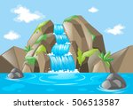 Scene With Waterfall And...