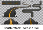 winding curved road or highway... | Shutterstock .eps vector #506515753