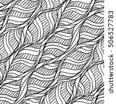 abstract monochrome hand drawn... | Shutterstock .eps vector #506527783