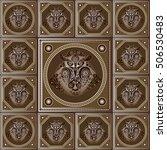maya art boho pattern with... | Shutterstock . vector #506530483