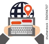 tablet and digital marketing...   Shutterstock .eps vector #506546707