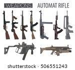 firearm set. automatic rifle ...   Shutterstock .eps vector #506551243