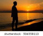 sunset makes guy relax   Shutterstock . vector #506558113
