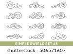 set of elegant vector swirls.... | Shutterstock .eps vector #506571607