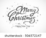 vintage merry christmas and... | Shutterstock .eps vector #506572147