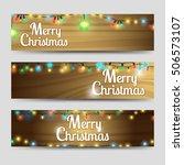 merry christmas horizontal... | Shutterstock .eps vector #506573107