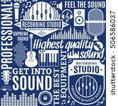 typographic vector recording... | Shutterstock .eps vector #506586037