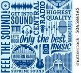 typographic vector radio... | Shutterstock .eps vector #506586163