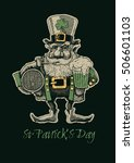 st. patrick s day. retro design ... | Shutterstock .eps vector #506601103