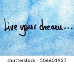 optimistic message live your... | Shutterstock . vector #506601937