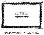 abstract grunge halftone frame | Shutterstock .eps vector #506603467