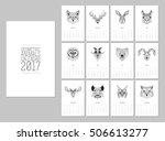 geometric animals heads... | Shutterstock .eps vector #506613277