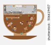 vector illustration. restaurant ... | Shutterstock .eps vector #506619457