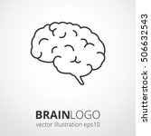 simple human brain logo. brain... | Shutterstock .eps vector #506632543