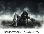 witch zombie | Shutterstock . vector #506633197