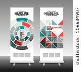 roll up business brochure flyer ... | Shutterstock .eps vector #506634907