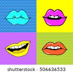 pop art lips isolated. warhol... | Shutterstock .eps vector #506636533