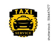 flat taxi logo isolated on... | Shutterstock . vector #506647477