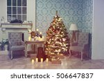 luxury interior of living room... | Shutterstock . vector #506647837