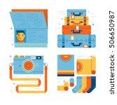 travel flat style illustration | Shutterstock .eps vector #506650987