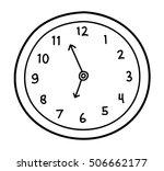 wall clock doodle. a hand drawn ... | Shutterstock .eps vector #506662177