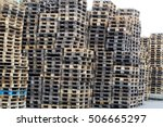 large pile of old wooden... | Shutterstock . vector #506665297
