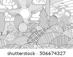 landscape of geometric elements ... | Shutterstock .eps vector #506674327