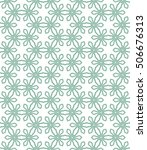 seamless geometric line pattern ... | Shutterstock .eps vector #506676313