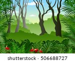 tropical forest background  | Shutterstock .eps vector #506688727
