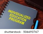 book with title individualized... | Shutterstock . vector #506693767