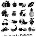 fruit icon vector set | Shutterstock .eps vector #506700073