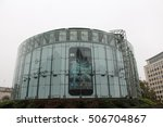 Small photo of London, 31st October 2016 - An advert for the Pixel by Google Android powered smartphone is displayed behind the glazed exterior of the BFI's IMAX cinema in Waterloo