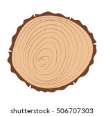 wood slice texture wooden... | Shutterstock .eps vector #506707303